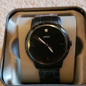 Fossil minimalist carbon series black watch